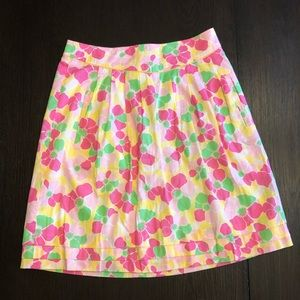 EUC Vintage Lilly Pulitzer Pink Green Floral Skirt
